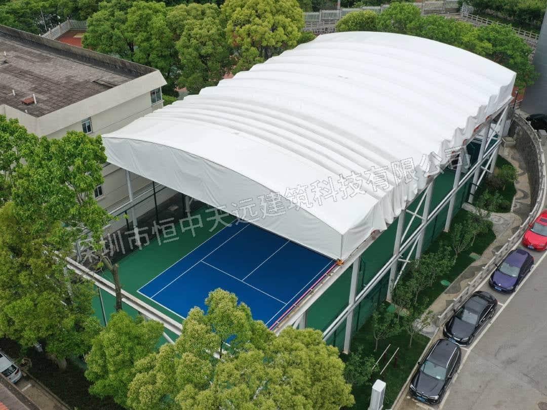 江苏无锡全开合网球场